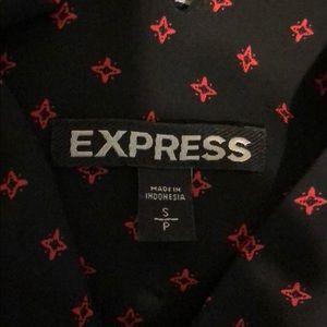 Express Tops - Express black and Red Criss cross tank sz SP
